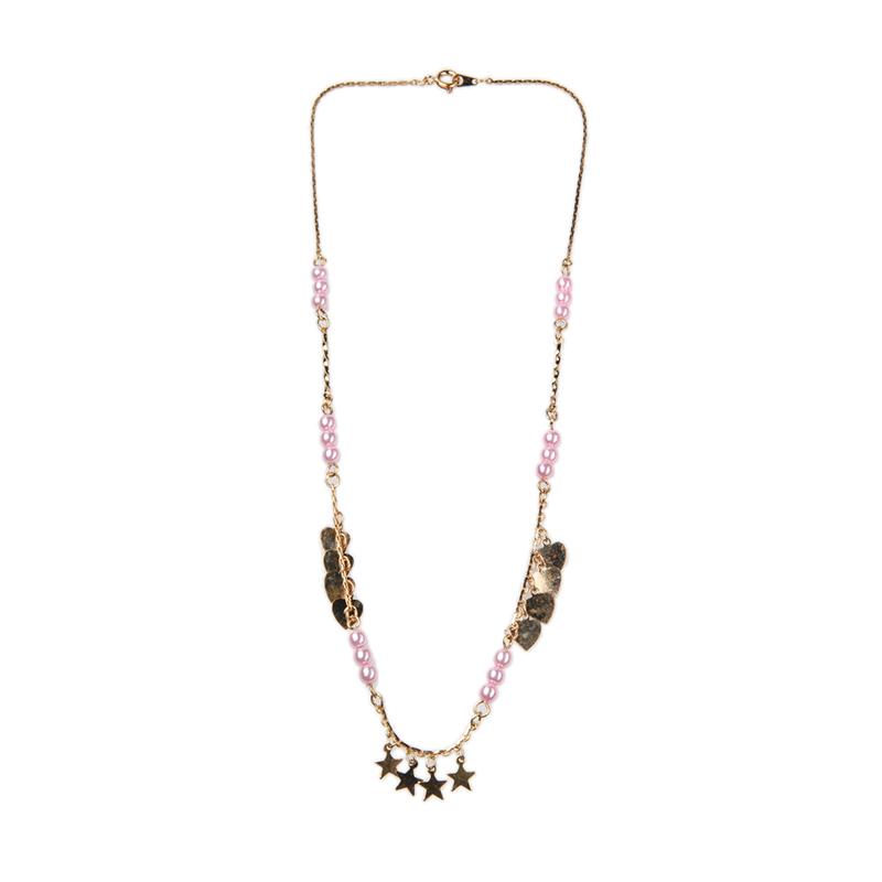 1901 Jewelry KL.929.HR67PI Kalung Hati 929 Pink [Lapis Emas 24k]