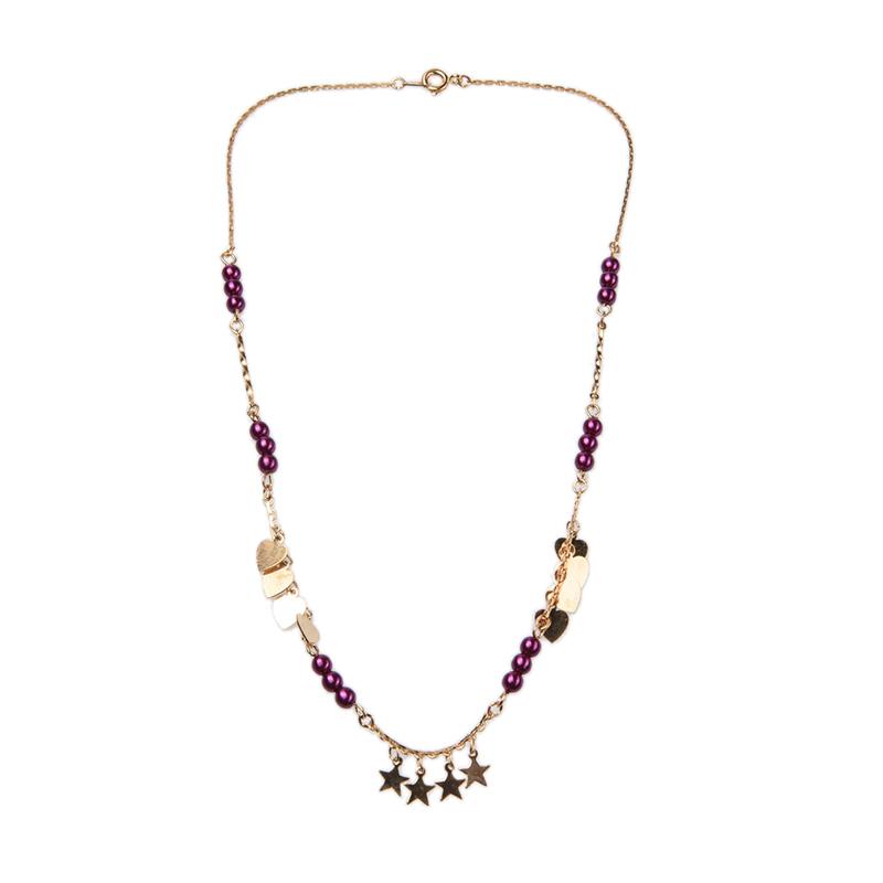 1901 Jewelry KL.929.HR67PU Kalung Hati 929 Ungu [Lapis Emas 24k]