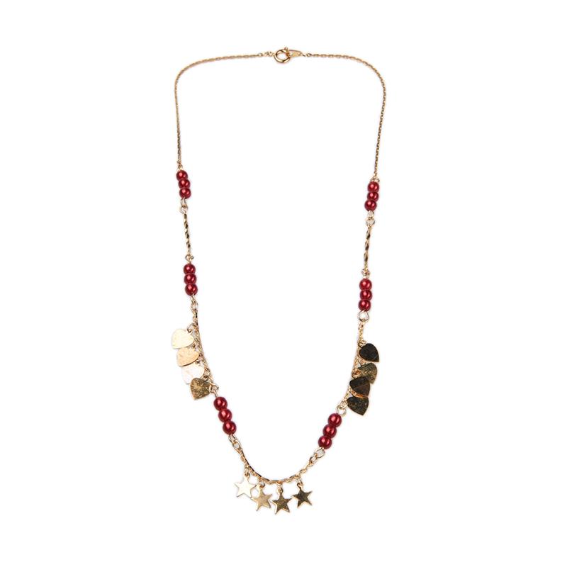 1901 Jewelry KL.929.HR67R Kalung Hati 929 Merah [Lapis Emas 24k]