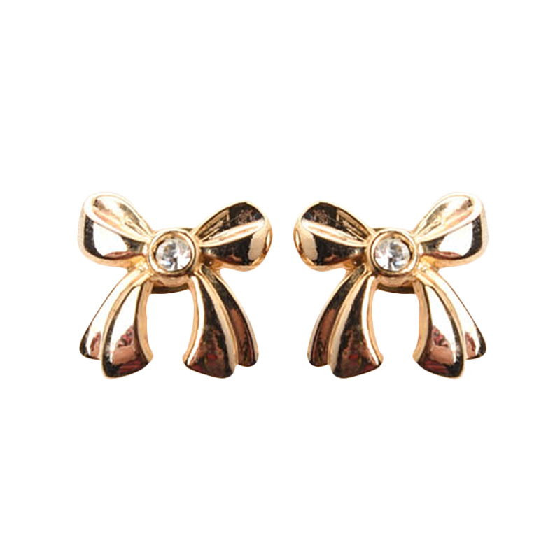 1901 Jewelry Little Bow Studs 4281 GW.4281.HR52 Anting - Gold
