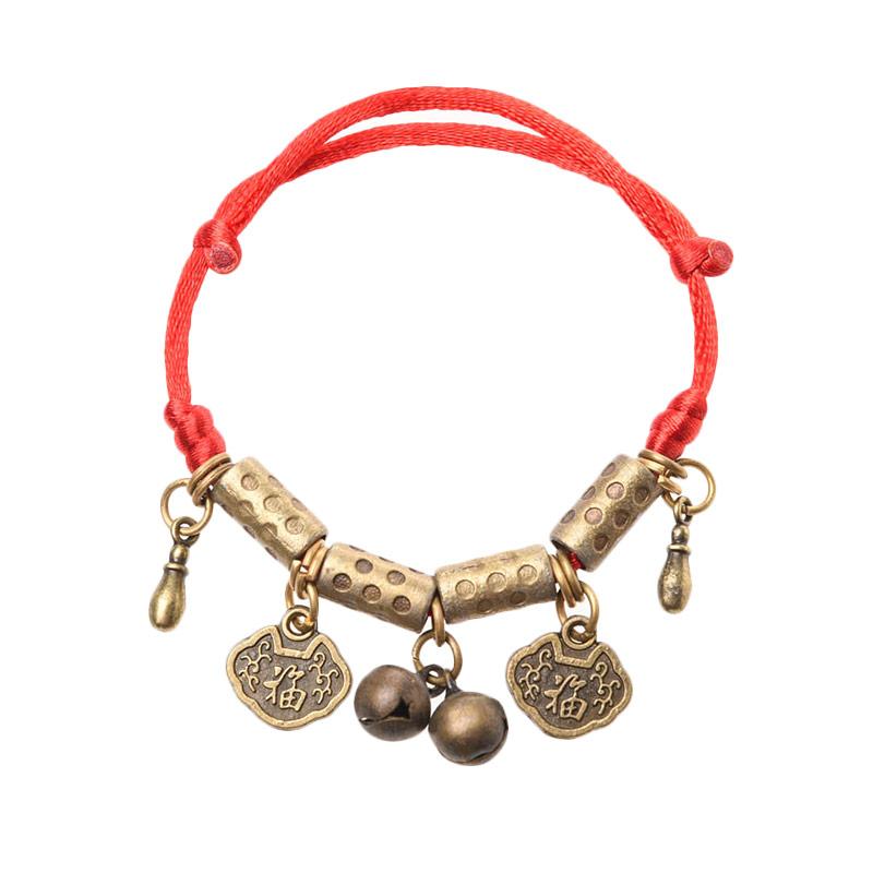 1901 Jewelry Lucky Charm 396 Bracelet GL.396.HR41 Gelang - Red