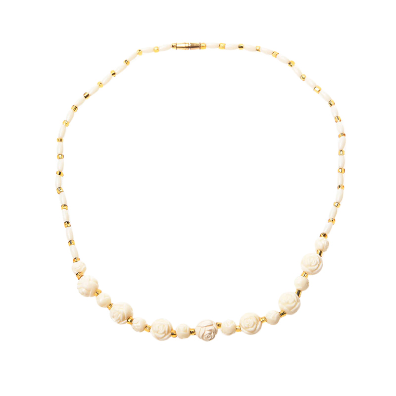 1901 Jewelry Roses Necklace KL.857.HR67 Kalung - White