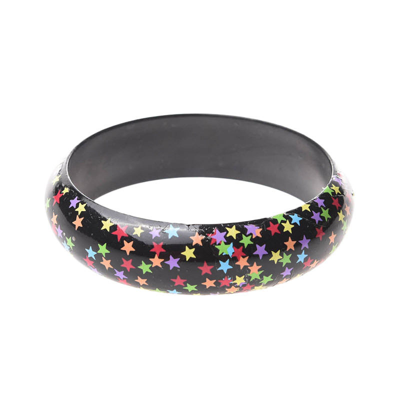 1901 Jewelry Twinkle Stars Bangle G.L00005 Gelang - Black