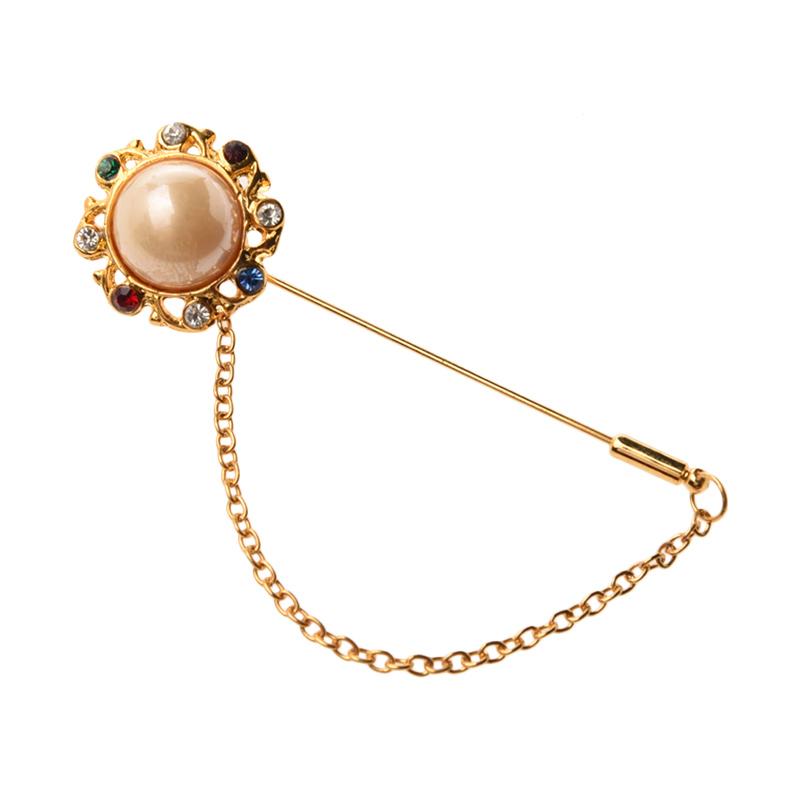 1901 Jewelry Flower 1243 BR.1243.HR37 Pin Brooch Wanita