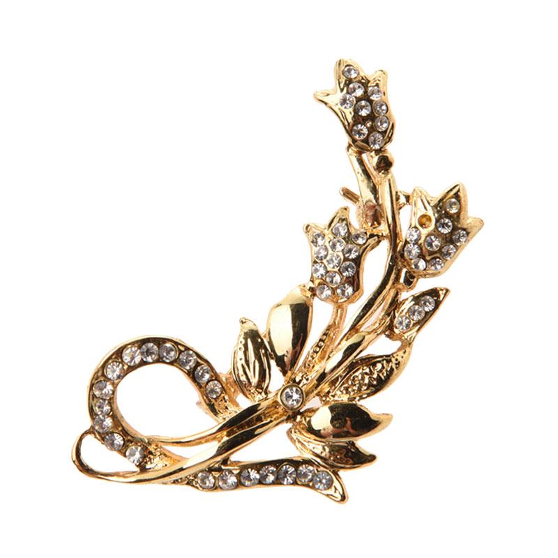 1901 Jewelry Flower 2222 BR.2222.HR71 Brooch Wanita
