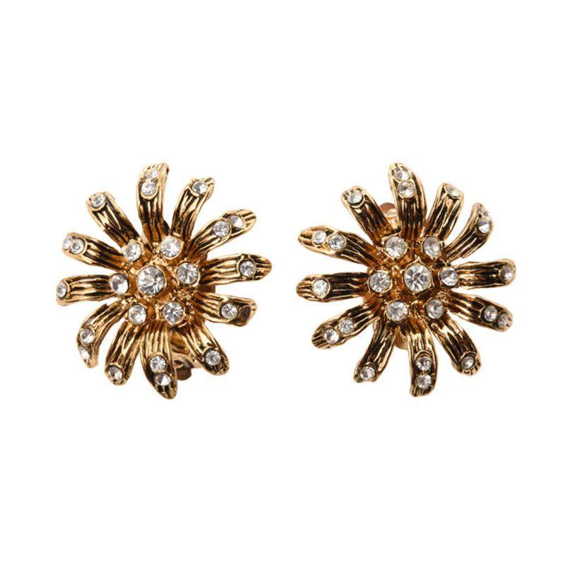 1901 Jewelry Flower 2244 Clip Anting Wanita