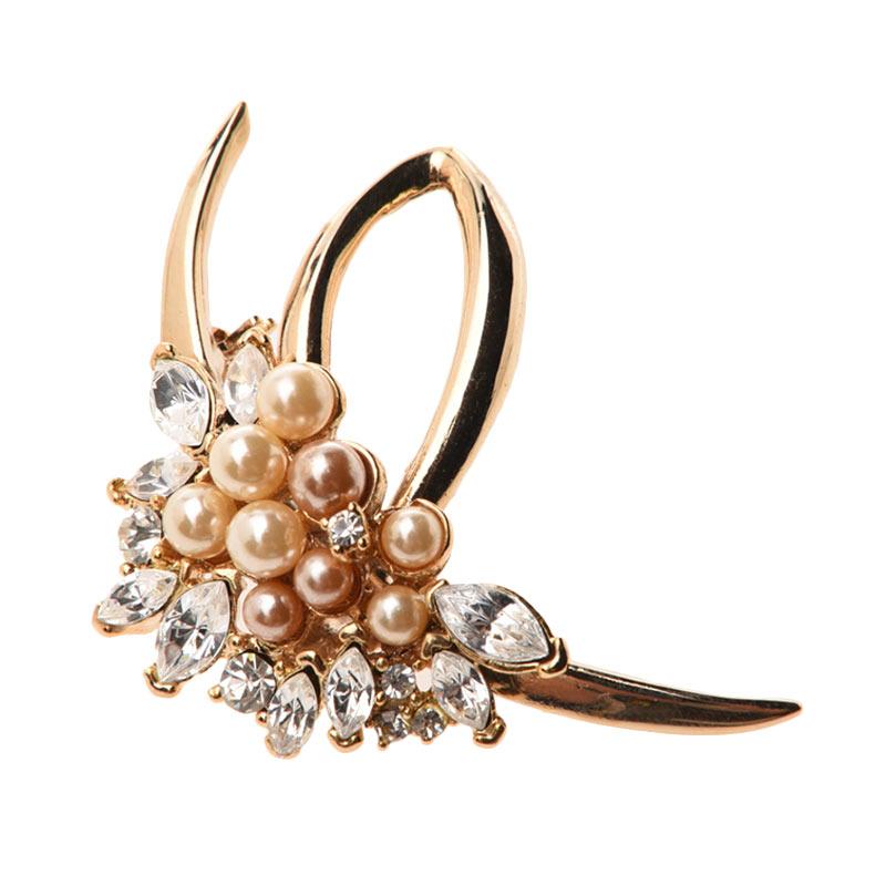 1901 Jewelry Flower 2253 BR.2253.HR71 Brooch Wanita