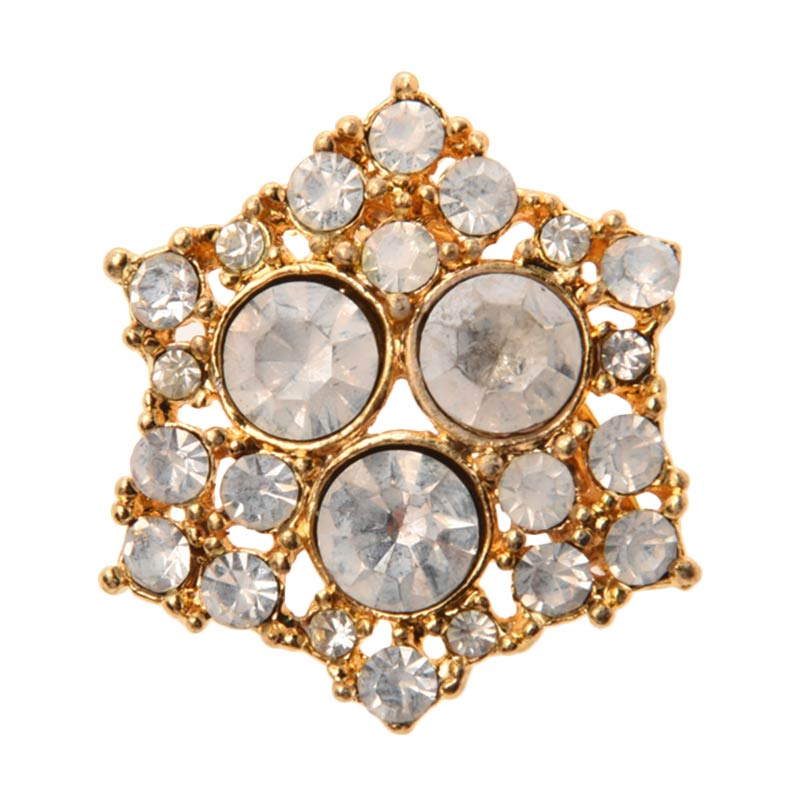 1901 Jewelry Hexagon 1608 BR.1608.HR48 Brooch