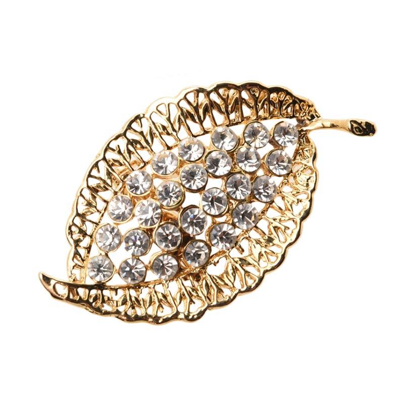 1901 Jewelry Leaf 1321 BR.1321.HR42 Brooch Wanita