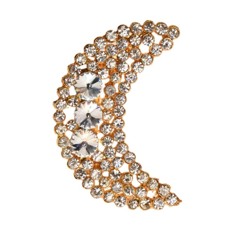 1901 Jewelry Moon 2254 BR.2254.HR71 Brooch Wanita