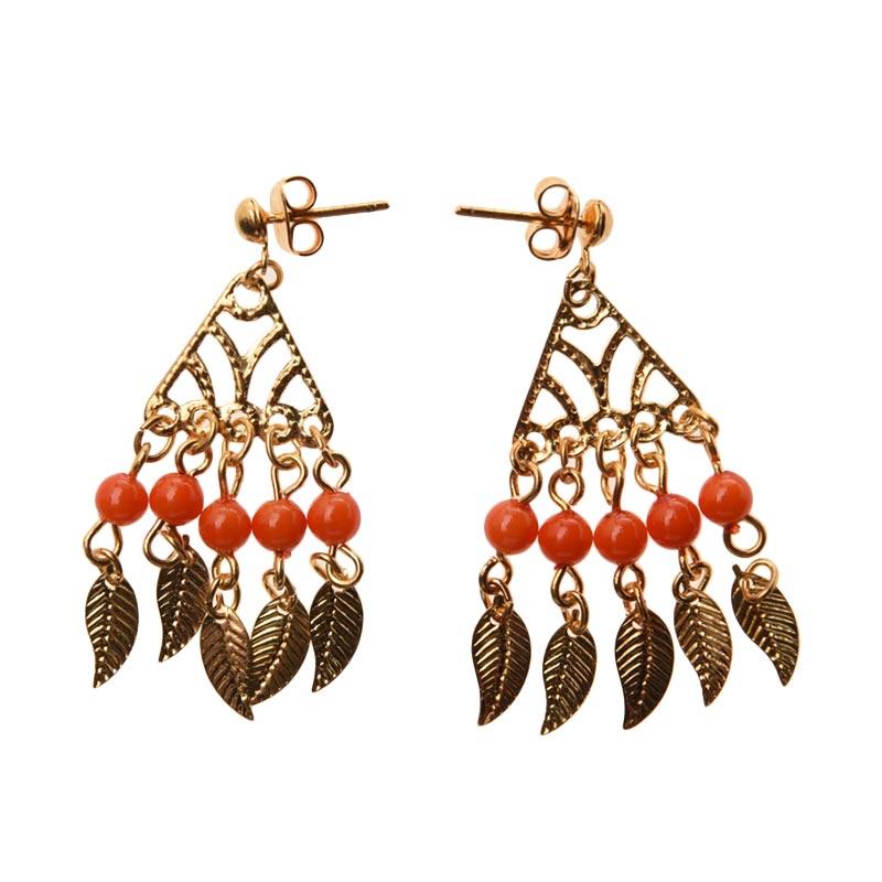 1901 Jewelry Triangle Leaf Earring