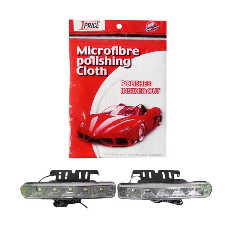 1Price Paket Combo 39 [LED Daytime Running Light A53455 + Microfiber Cloth KP516]