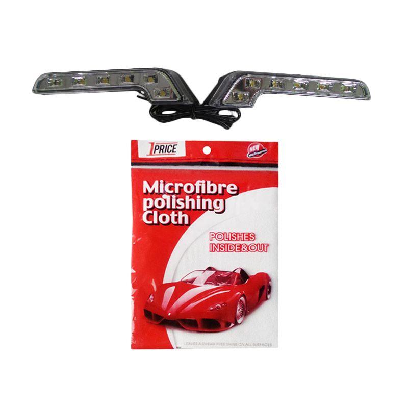 1Price Paket Combo 46 [LED Daytime Running Light A53466 + Microfiber Cloth KP516]