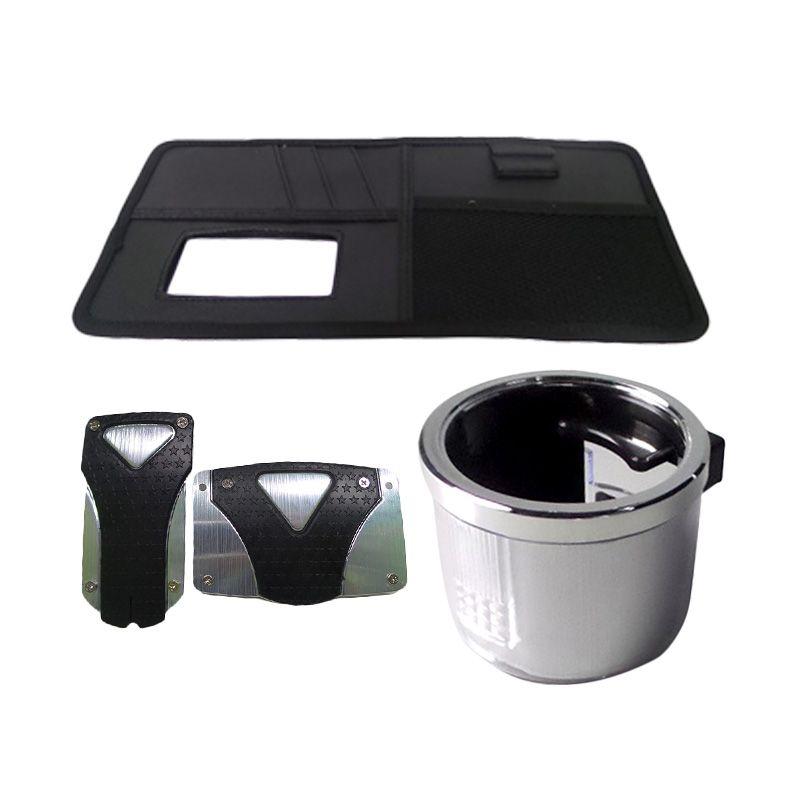 1Price Paket Combo 49 [Manual Pedal Pad B71223B + Drink Holder A53047 + SunShield Organizer A83027]
