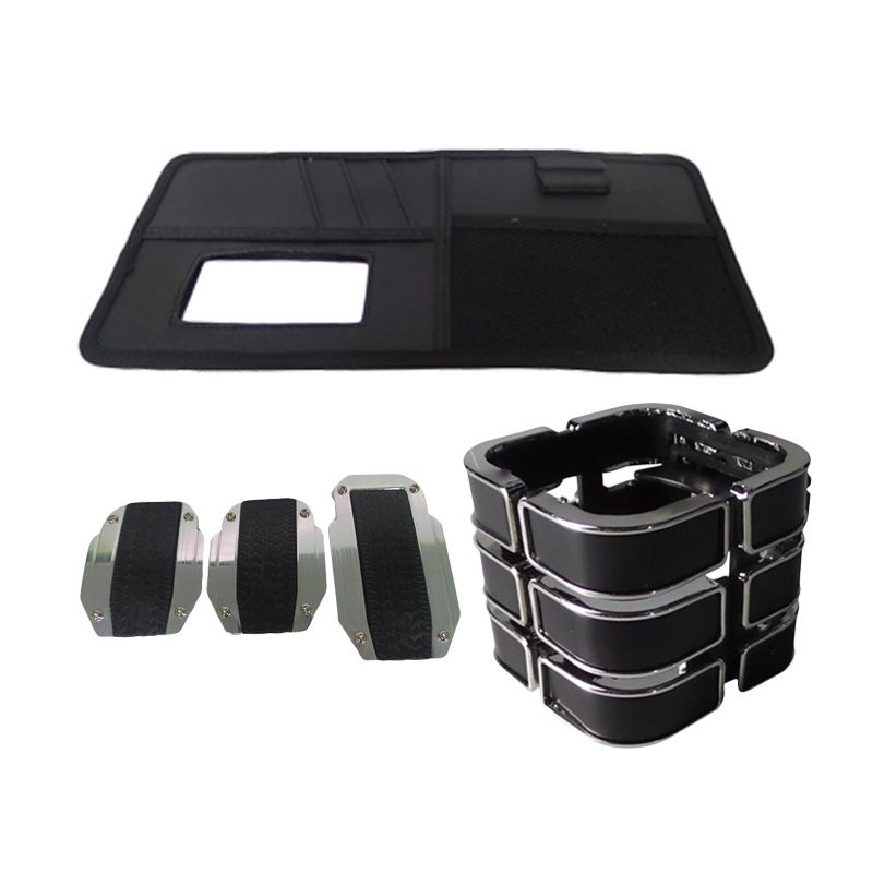 1Price Paket Combo 50 [Manual Pedal Pad B71224A + Drink Holder A53045 + SunShield Organizer A83027]