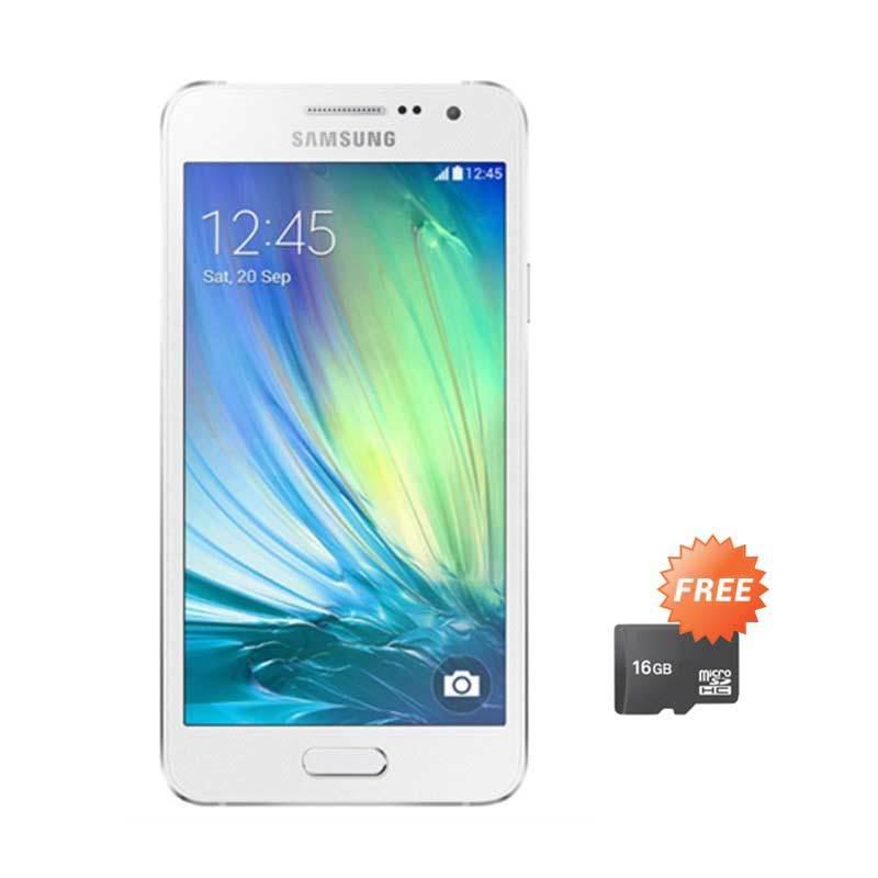 Samsung Galaxy A3-A300H Silver Smartphone [1 GB/16 GB] + Memory Card