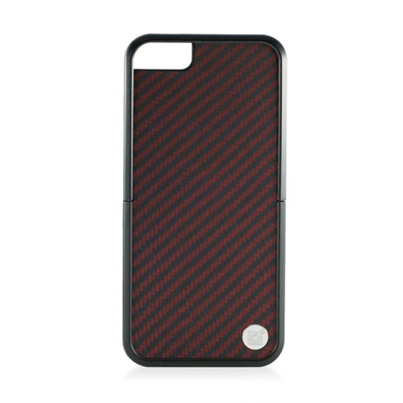 CDN Laminati For iPhone 5 - Kevlar Black and Burgundy