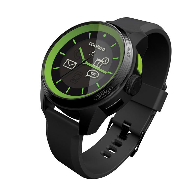 COOKOO watch - Black on Green (Limited edition )