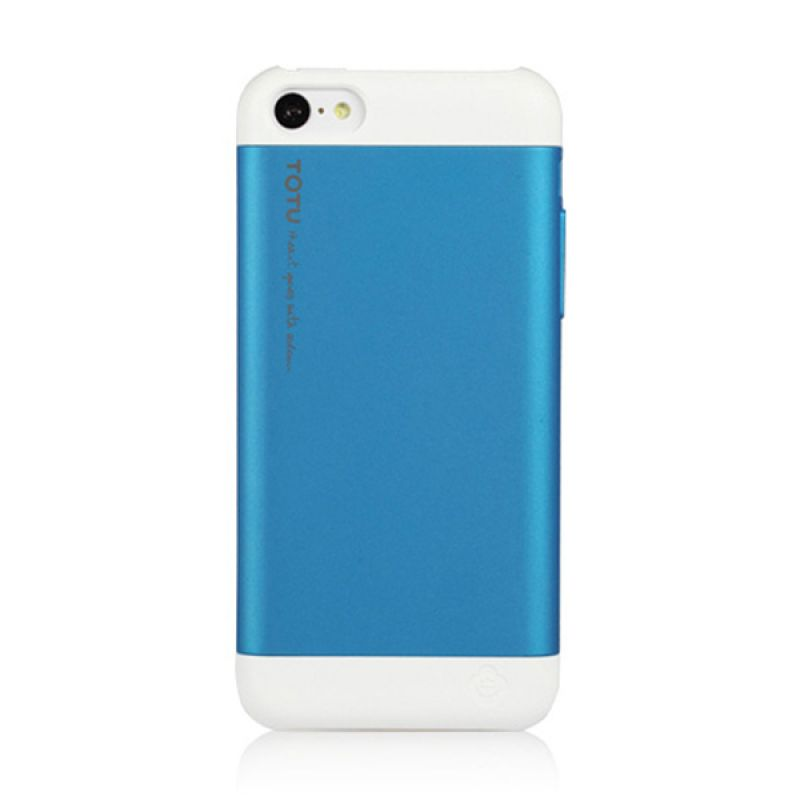 Totu Primary Colors for iPhone 5C - White / Blue