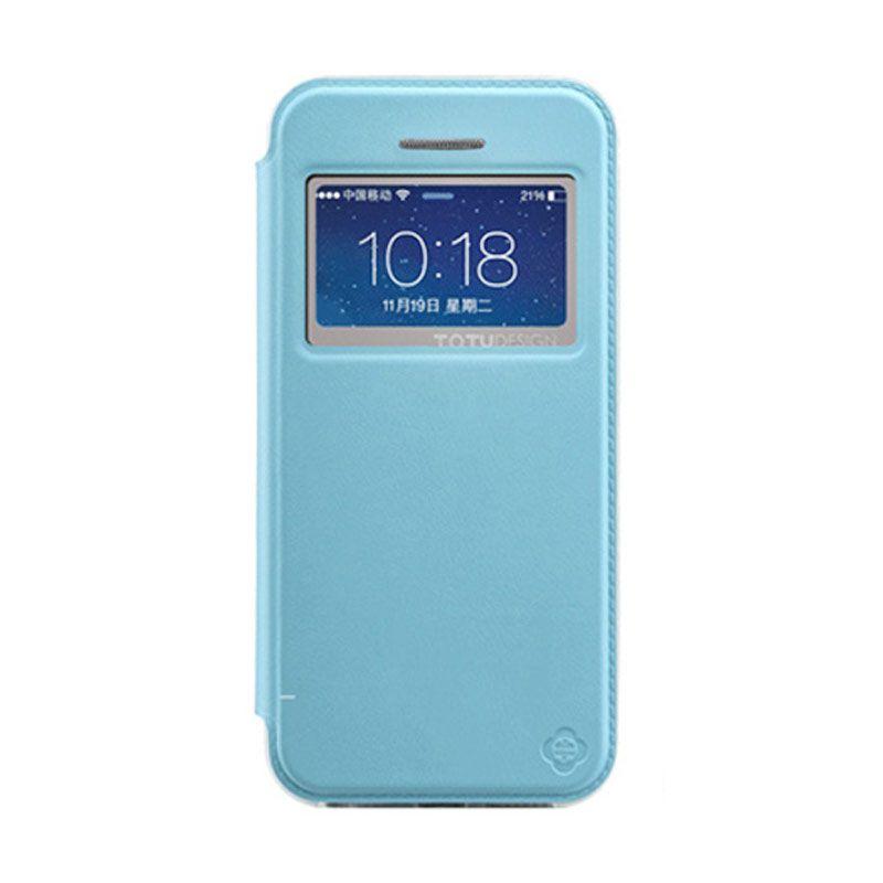 Totu Starry II - 1 Window For iPhone 5/5S Flip Case - Blue