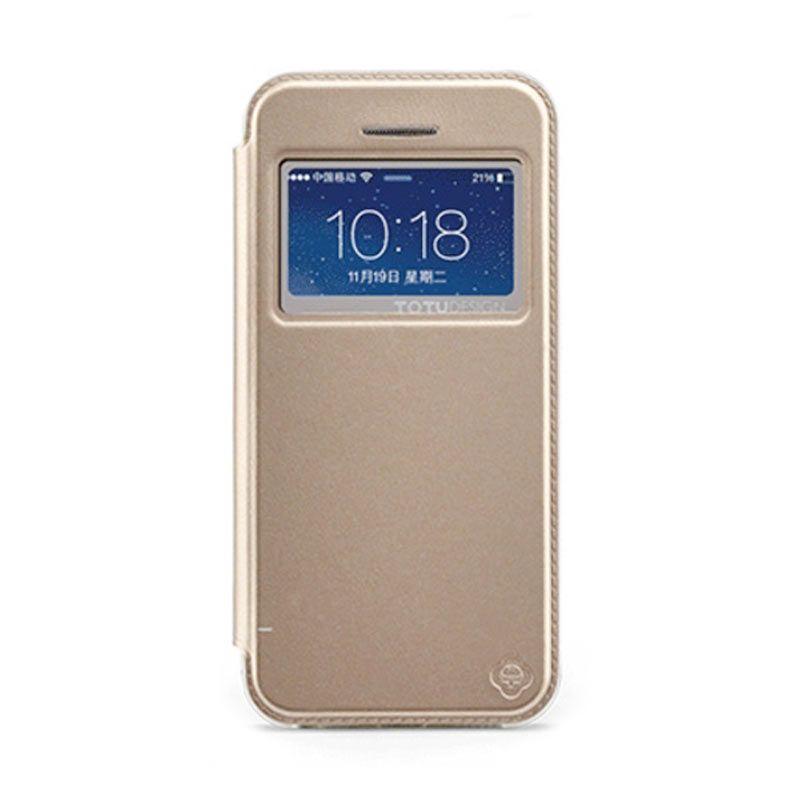Totu Starry II - 1 Window For iPhone 5/5S Flip Case - Gold