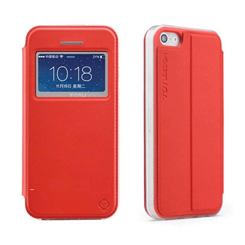 Totu Starry II - 1 Window For iPhone 5/5S Flip Case - Red