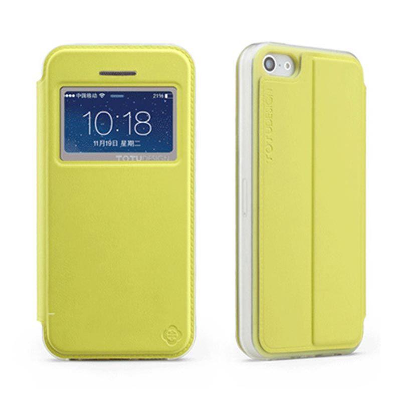 Totu Starry II - 1 Window For iPhone 5/5S Flip Case - Yellow