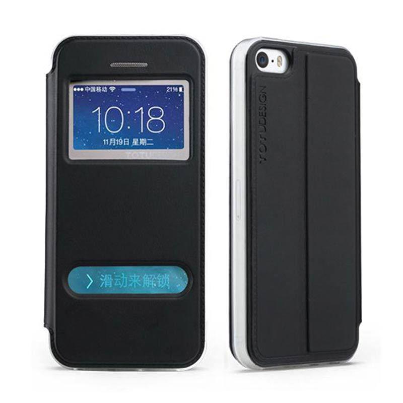 Totu Starry II For iPhone 5/5S Flip Case - Black