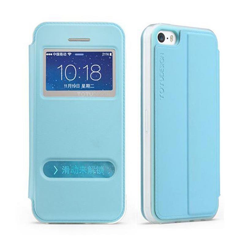 Totu Starry II For iPhone 5/5S Flip Case - Blue