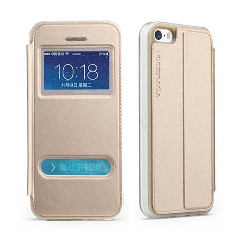 Totu Starry II For iPhone 5/5S Flip Case - Gold