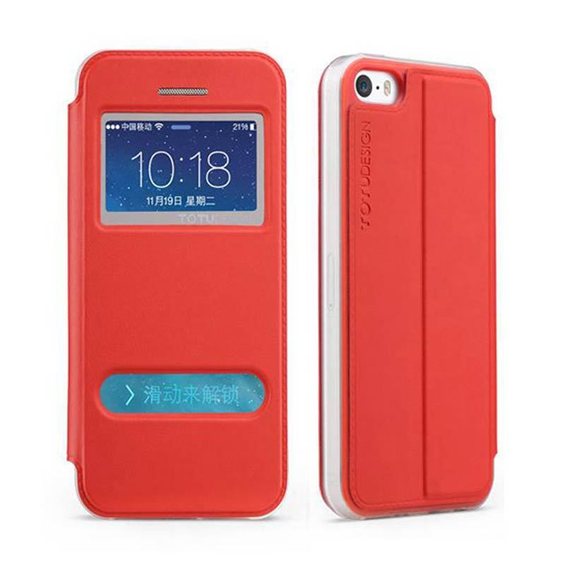 Totu Starry II For iPhone 5/5S Flip Case - Red