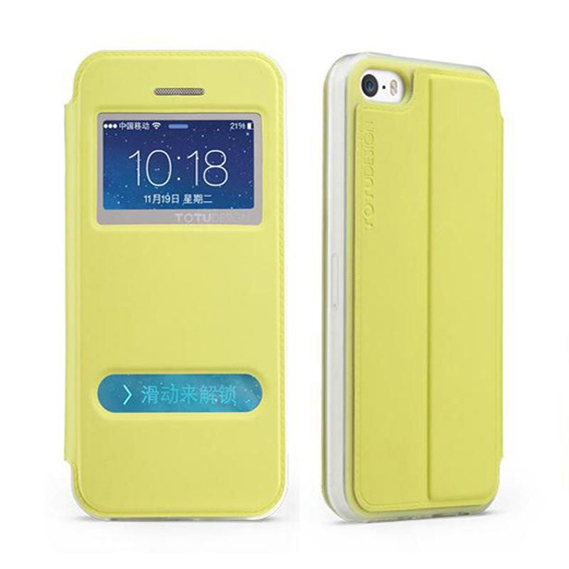 Totu Starry II For iPhone 5/5S Flip Case - Yellow