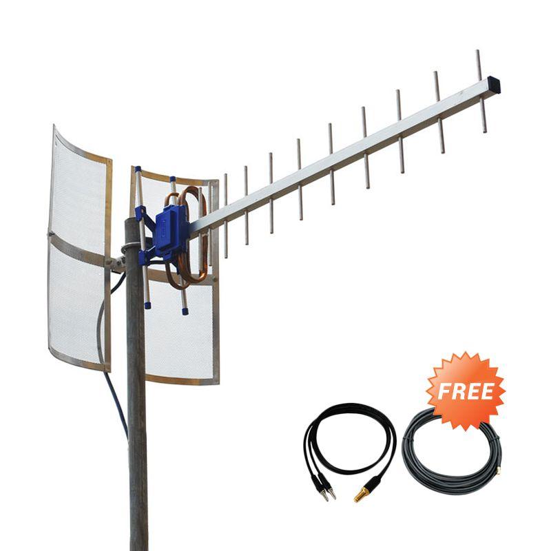 Yagi TXR185 Antena for Modem BOLT ZTE MF825A Dual Pigtail + Kabel