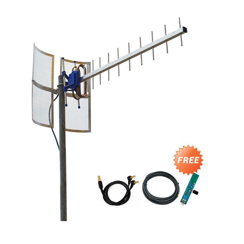 Yagi TXR185 Antena for Modem BOLT ZTE MF90 Dual Pigtail + Baterai Dummy
