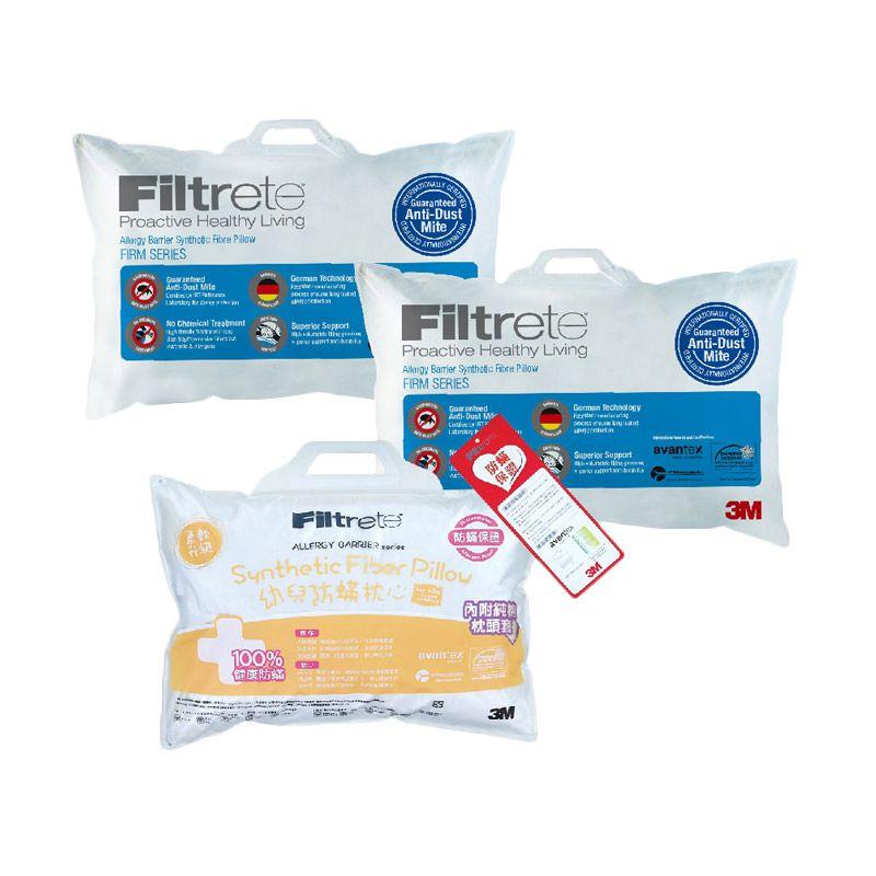 3M Bantal Anti Alergi 2 Comfort Firm & 1 Anak 1-6 tahun (Paket 11)