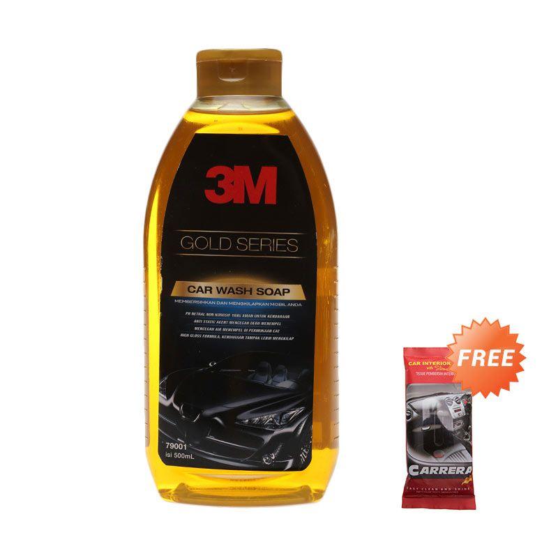 Promo 3M Gold Series Car Wash Soap Mobil [500 mL] + Free Carrera Easy Wipe 10