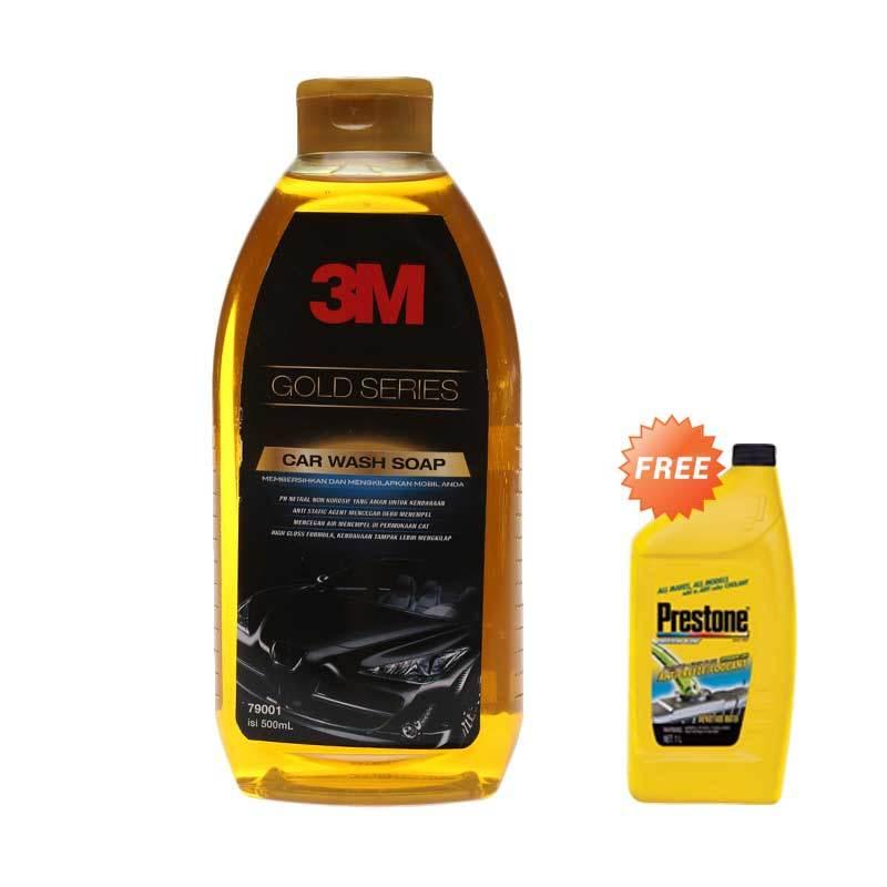 Promo 3M Gold Series Car Wash Soap Bottle [500 mL] + Free Prestone Radiator Coolant AF 2033L
