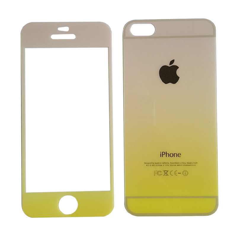 3T Rainbow Yellow Tempered Glass Screen Protector for iPhone 5 or 5s