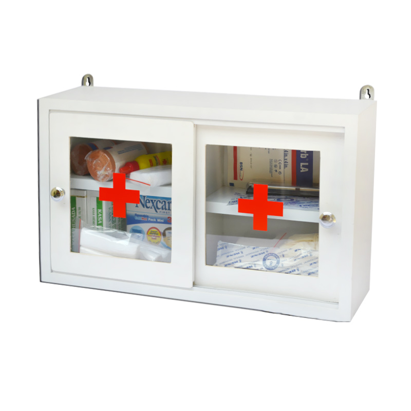 4Life First Aid wooden Box kit Pintu Kunci