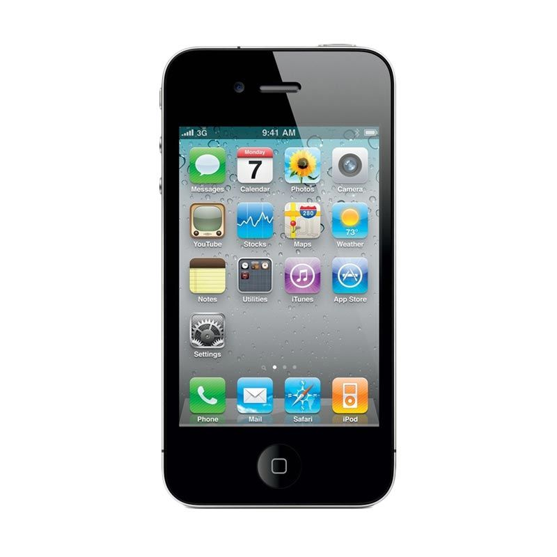 harga Apple IPhone 4S 16 GB Black Smartphone [Refurbish] Blibli.com