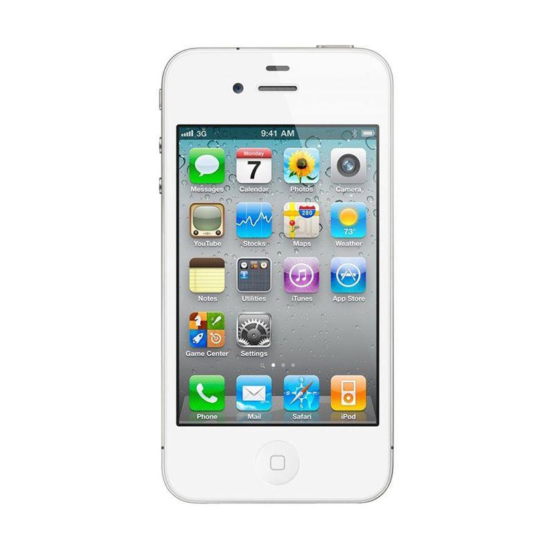 Apple iPhone 4S (Refurbish)16 GB Putih Smartphone