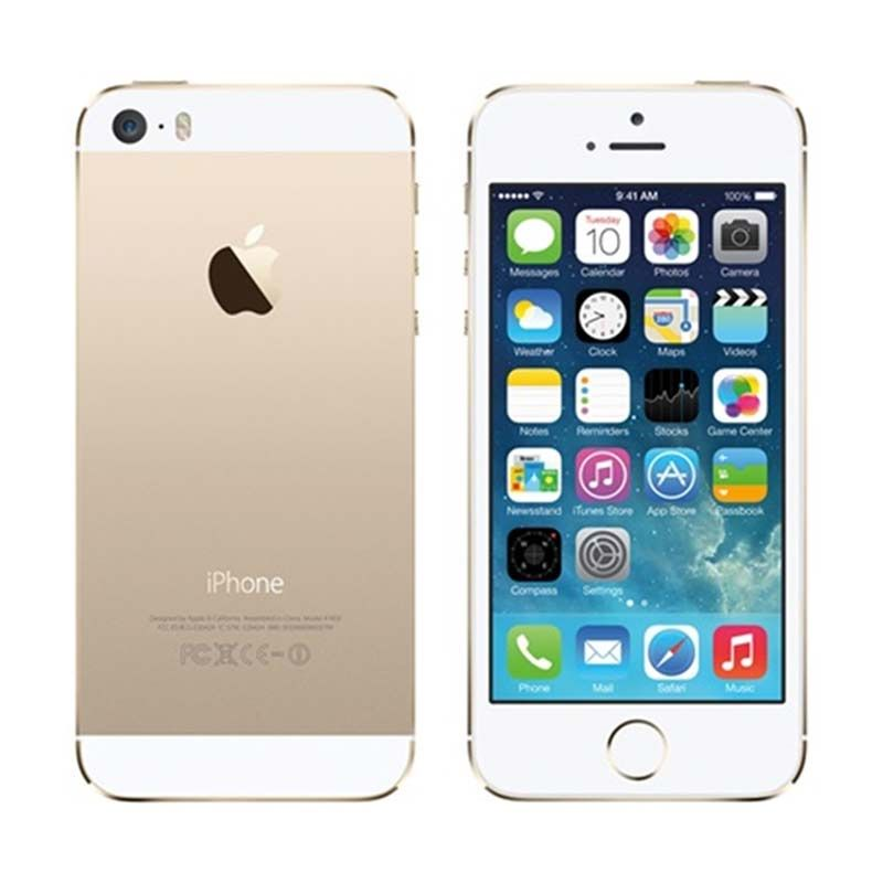Apple iPhone 5S (Refurbish) Gold Smartphone [64 GB]