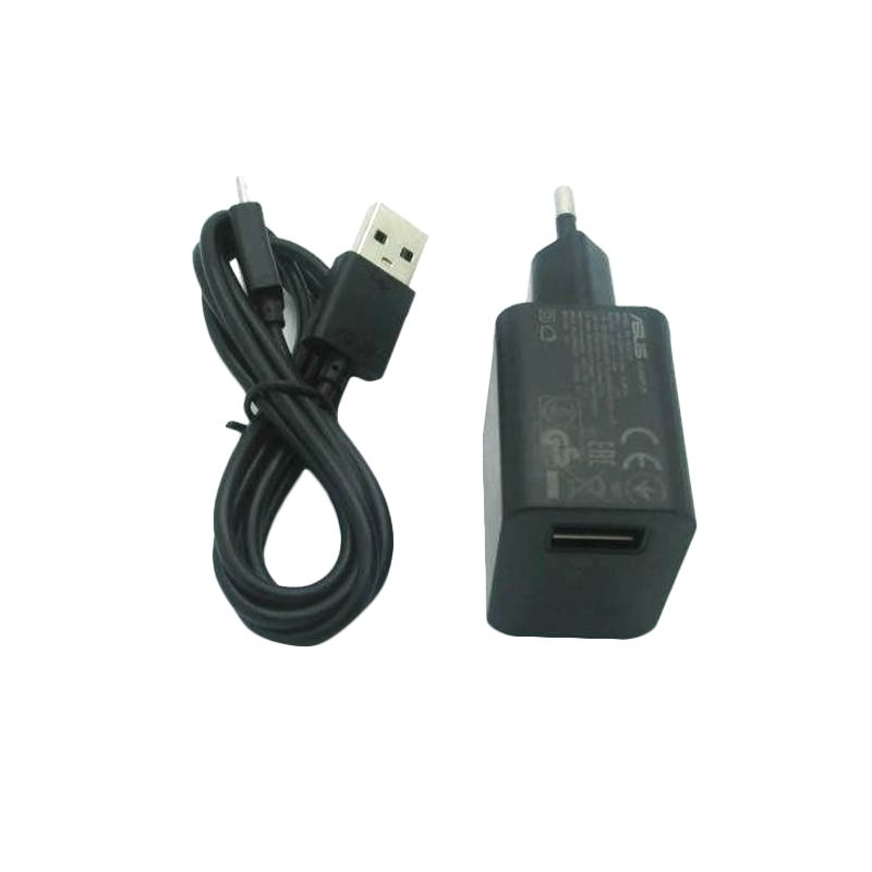 Asus Hitam Charger with USB Data Cable for Zenfone 4 or Zenfone 4S or Zenfone5 [Original]