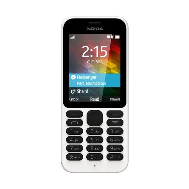 Nokia 215 Putih Handphone [Dual SIM]