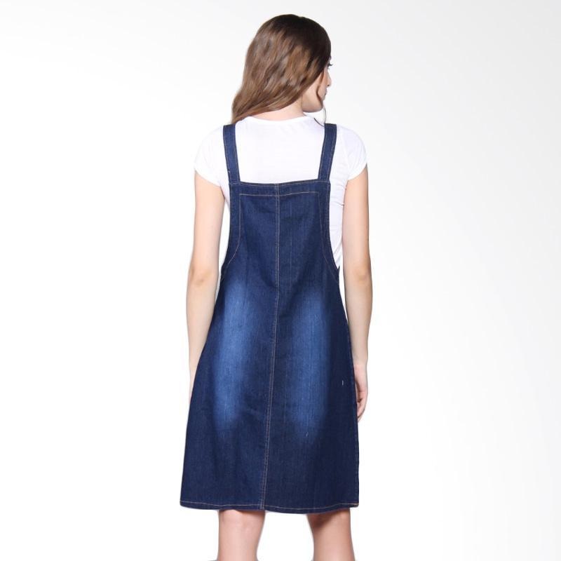 Jual Miracle Online Shop Triani Overall Jeans Dress Pendek ...