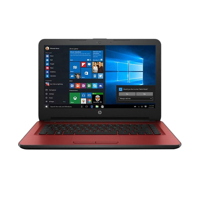 Hp 14 am507tu laptop red intel core i3 6006u 500gb for 14 inch window