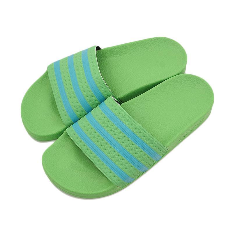 Jual adidas Original Adilette Slides Sandal - Green ...