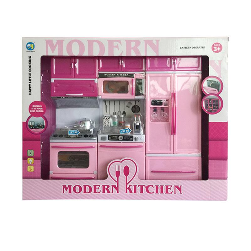 Jual ocean toy 818 26 modern kitchen set mainan edukasi for Kitchen set anak
