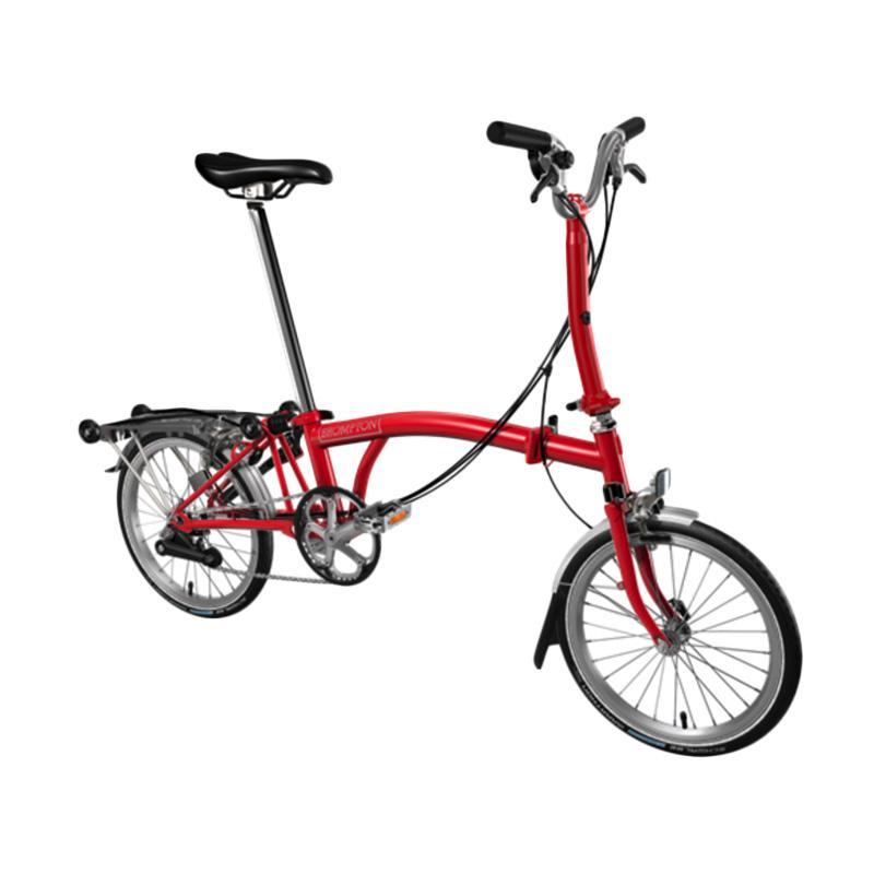 Jual Brompton M6r 2017 Sepeda Lipat Red Online Harga Amp Kualitas Terjamin Blibli Com