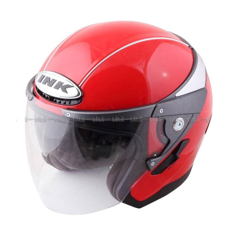 Jual INK Metalico Solid Fire RD Helm Half Face Online